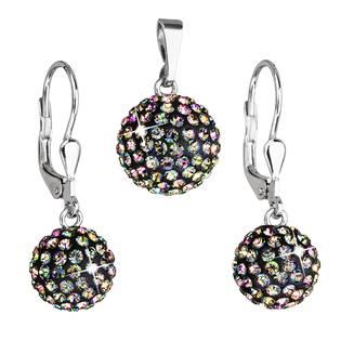 Sada náušnic a přívěšku koule s kameny Crystals from Swarovski® Vitrail Medium