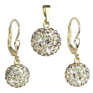 Sada náušnic a přívěšku s kameny Crystals from Swarovski® Luminous reen