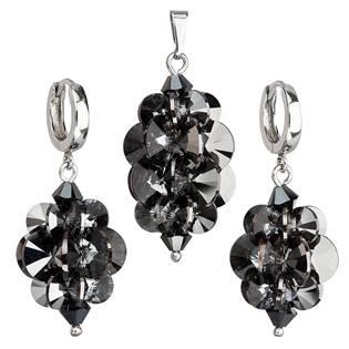 Sada šperků hrozen s kameny Crystals from Swarovski® Silver Night