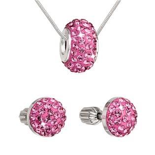 Sada šperků s kameny Crystals from Swarovski® Rose