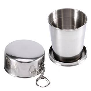 Skládací nerezový pohárek - kalíšek 240 ml