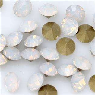 Skleněný šaton SS16 - 4 mm, 10ks/bal., White Opal