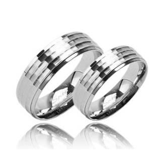 Snubní prsteny ocel - pár OPR1388