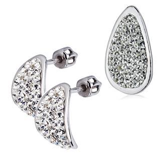 Stříbrná souprava náušnice a přívěšek s krystaly Crystals from Swarovski®