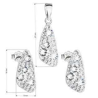 Stříbrná souprava šperků Crystals from Swarovski® Crystal