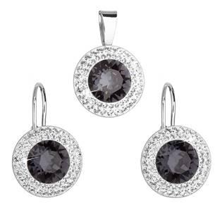 Stříbrná souprava šperků Crystals from Swarovski® Grey