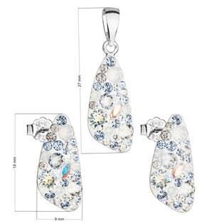 Stříbrná souprava šperků Crystals from Swarovski® Light Sapphire