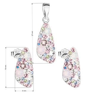 Stříbrná souprava šperků Crystals from Swarovski® Magic Rose