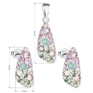 Stříbrná souprava šperků Crystals from Swarovski® Sakura