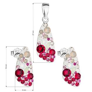 Stříbrná souprava šperků Crystals from Swarovski® Sweet Love
