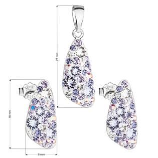 Stříbrná souprava šperků Crystals from Swarovski® Violet