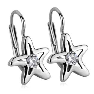 Stříbrné náušnice - mořské hvězdy