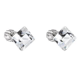 Stříbrné náušnice Crystals from Swarovski®, Crystal