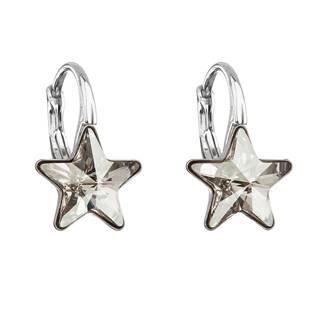 Stříbrné náušnice hvězdičky Crystals from Swarovski® Silver Shade