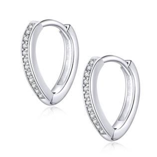 Stříbrné náušnice kroužky lomené