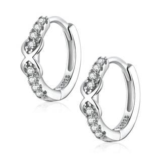 Stříbrné náušnice kroužky s nekonečny