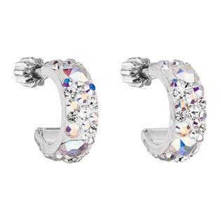 Stříbrné náušnice kruhy s krystaly Crystals from Swarovski® AB