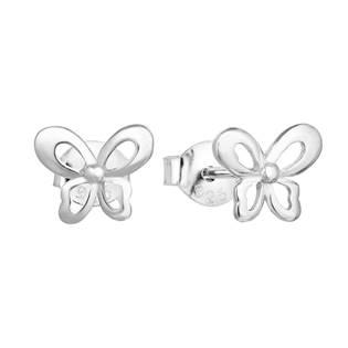Stříbrné náušnice motýlci