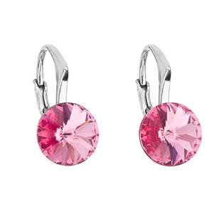 Stříbrné náušnice s Crystals from Swarovski® Rose