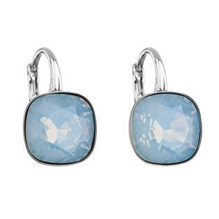 Stříbrné náušnice s kameny Crystals from Swarovski® Blue Opal