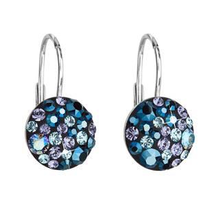Stříbrné náušnice s kameny Crystals from Swarovski® Blue Style