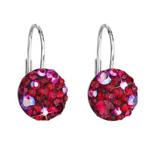 Stříbrné náušnice s kameny Crystals from Swarovski® Cherry