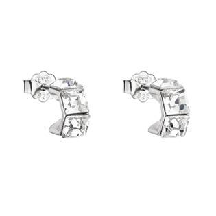 Stříbrné náušnice s kameny Crystals from Swarovski® Crystal