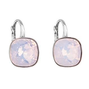 Stříbrné náušnice s kameny Crystals from Swarovski® Rose Water Opal