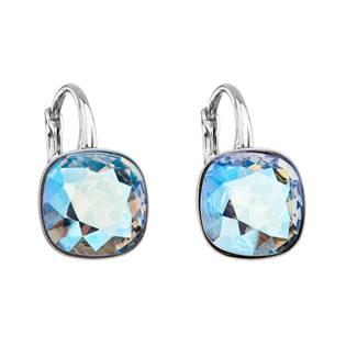 Stříbrné náušnice s kameny Crystals from Swarovski® Sapphire Shimmer