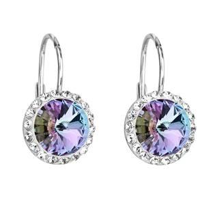 Stříbrné náušnice s kameny Crystals from Swarovski® Vitrail Light