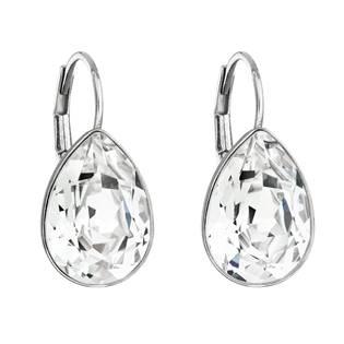 Stříbrné náušnice s kapky s kameny Crystals from Swarovski® Crystal