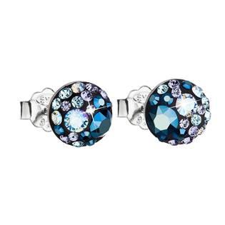 Stříbrné náušnice s krystaly Crystals from Swarovski®, Blue Style