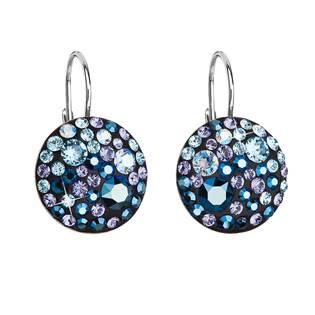 Stříbrné náušnice s krystaly Crystals from Swarovski® Blue Style