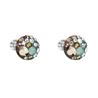 Stříbrné náušnice s krystaly Crystals from Swarovski® Chameleon