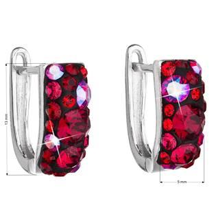 Stříbrné náušnice s krystaly Crystals from Swarovski®, Cherry