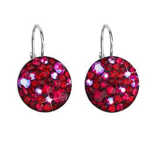 Stříbrné náušnice s krystaly Crystals from Swarovski® Cherry