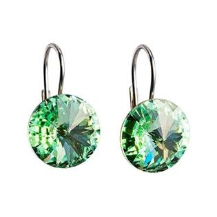 Stříbrné náušnice s krystaly Crystals from Swarovski®, Chrysolite