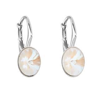 Stříbrné náušnice s krystaly Crystals from Swarovski® CRYSTAL LIGHT GREY DELITE