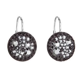 Stříbrné náušnice s krystaly Crystals from Swarovski® Hematite