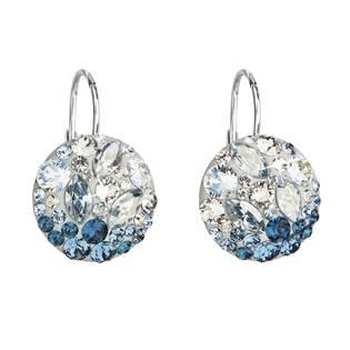 Stříbrné náušnice s krystaly Crystals from Swarovski® Ice Blue