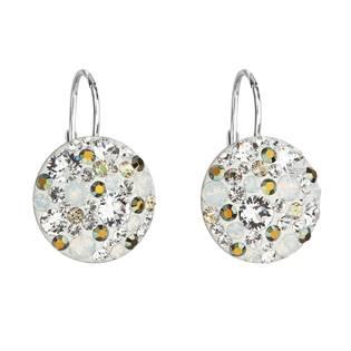 Stříbrné náušnice s krystaly Crystals from Swarovski® Iridescent Green