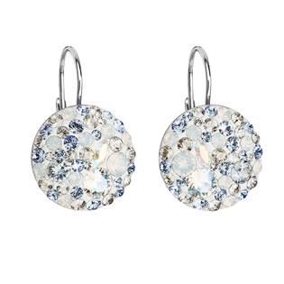Stříbrné náušnice s krystaly Crystals from Swarovski® Light Sapphire