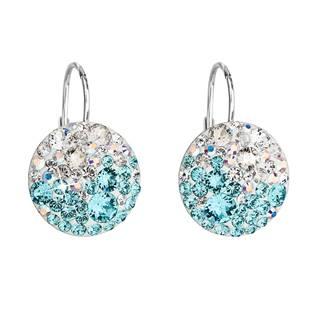 Stříbrné náušnice s krystaly Crystals from Swarovski® Light Turquoise