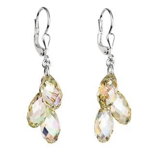 Stříbrné náušnice s krystaly Crystals from Swarovski® LUMINOUS GREEN