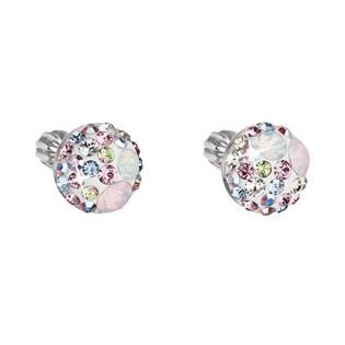 Stříbrné náušnice s krystaly Crystals from Swarovski® MAIC ROSE