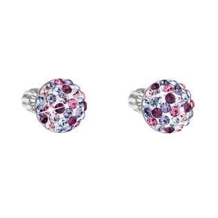 Stříbrné náušnice s krystaly Crystals from Swarovski® MIX