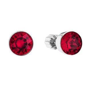Stříbrné náušnice s krystaly Crystals from Swarovski® Ruby