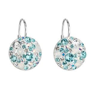 Stříbrné náušnice s krystaly Crystals from Swarovski® Turquise