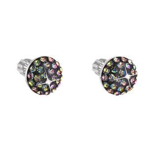 Stříbrné náušnice s krystaly Crystals from Swarovski® Vitrail Medium