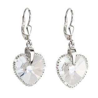 Stříbrné náušnice visací s krystaly Crystals from Swarovski® CRYSTAL